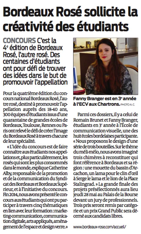 Bordeaux Rosé sollicite la créativité